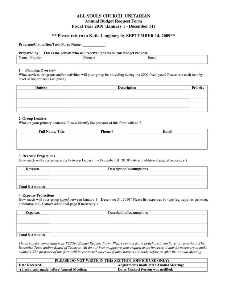 Budget Request Form Purchase Order Form Template Purchase Order