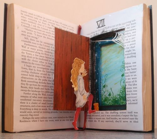 clemarie:    Real stories have depth…  Another old book I 'recycled'