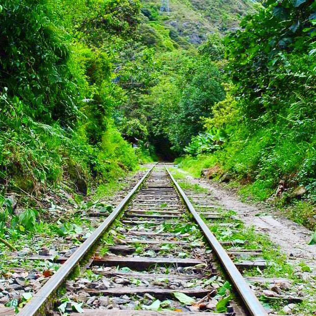 Vías del tren Machu Picchu, Cuzco, Perú