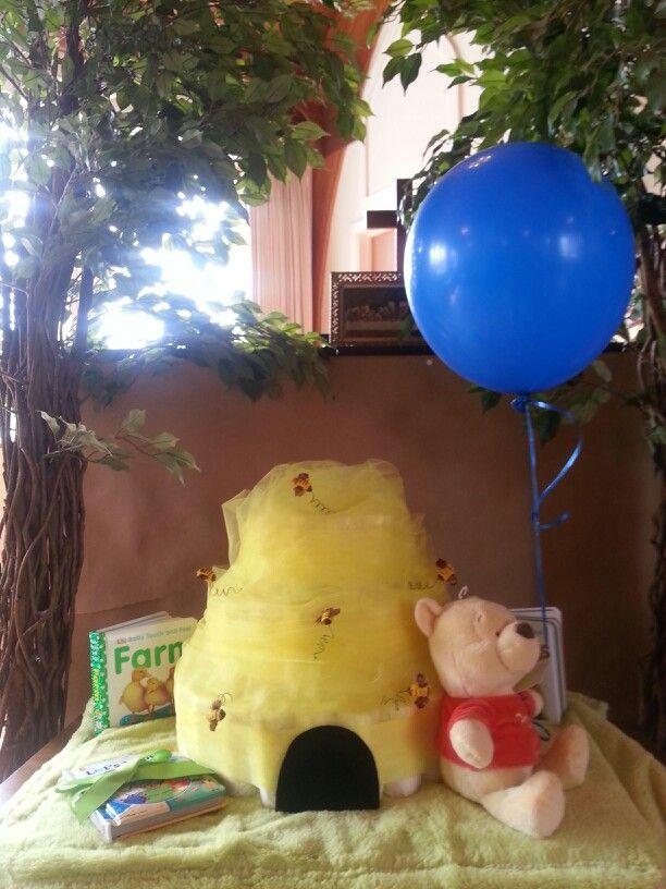Winnie The Pooh Bee Hive Diaper Cake Ideas In 2019
