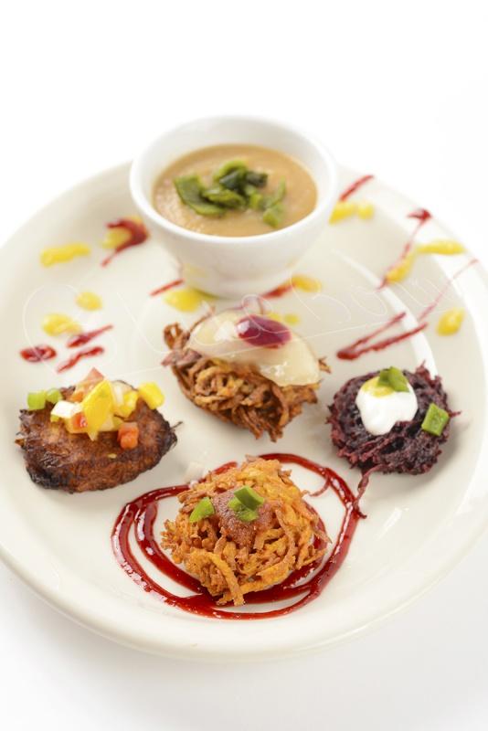 Fresh, housemade Mexican latkes. Your choice of spaghetti squash, sweet potato and beet
