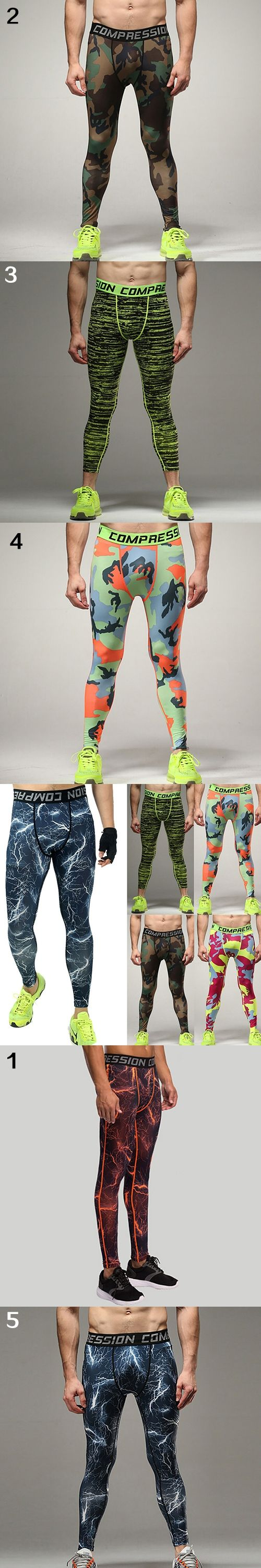 NEW GOODS NEW ITEMS Men Compression Leggings Camo Layer   Trousers Tights  Pants