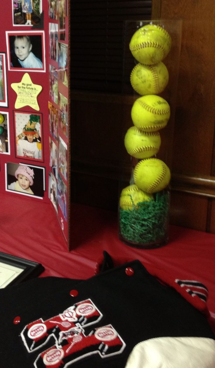 Softball grad party ideas pinterest