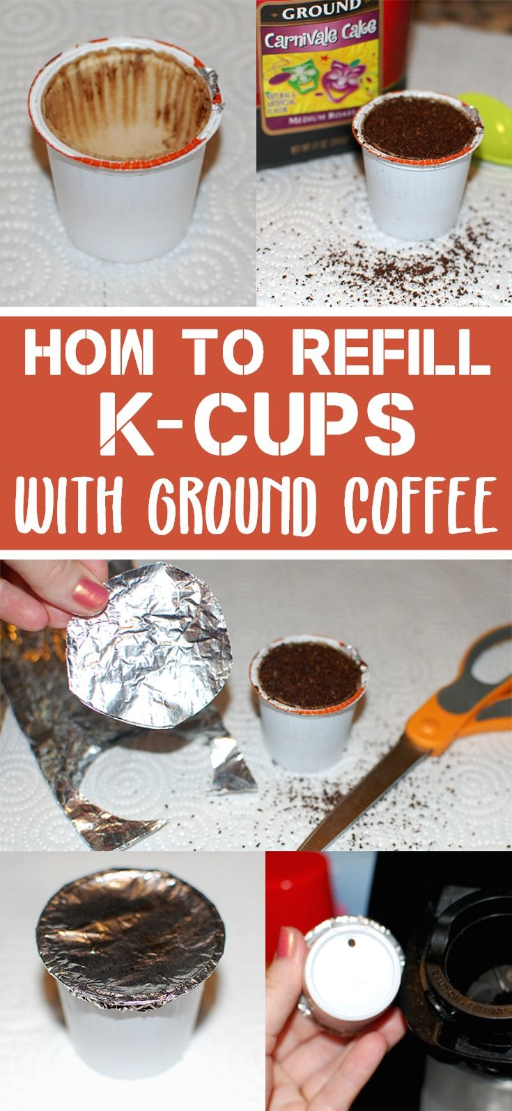 How to Refill K-Cups with Your Own Ground Coffee #DIY #coffeetime