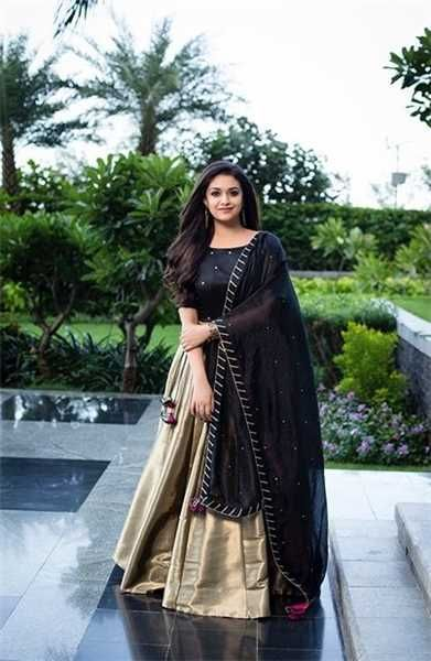 32c5a28d9d2 Keerthy Suredh Saree Stills Lehnga Dress, Dress Skirt, Indian Party Wear,  Indian Wear