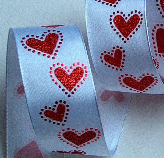valentine's day wired ribbon
