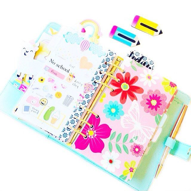 Planner layout, planner spread, stickers, planner dashboard Kikki.K, Kikkik planner