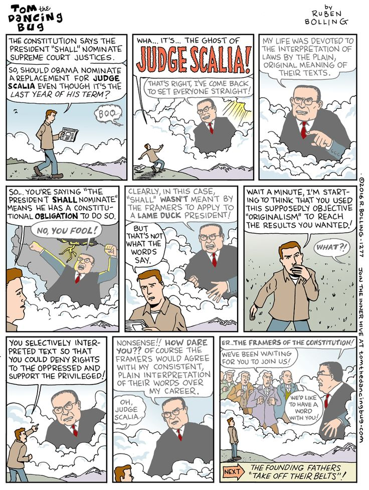 Cartoon: The return of Judge Scalia!