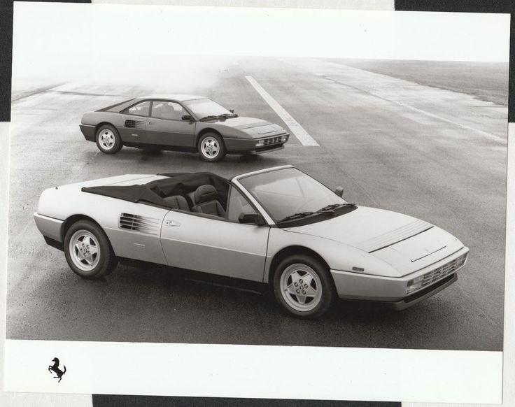 1989 FERRARI MONDIAL RANGE ORIGINAL PERIOD FACTORY PRESS PHOTOGRAPH FOTOGRAFIA