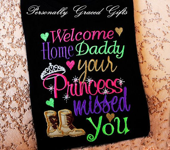 Military Welcome Home Daddy Your Princess by PersonallyGraced, $28.00