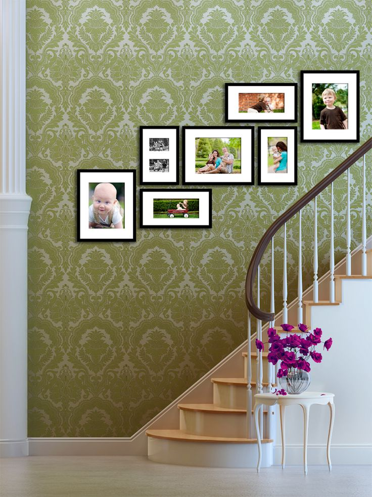 Lovely #stairway display of #family #photographs for the #home