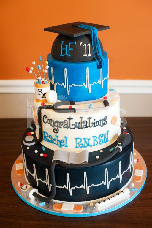 Cake Decorations For Nurses : 17 Best images about Graduation Cakes on Pinterest Groom ...