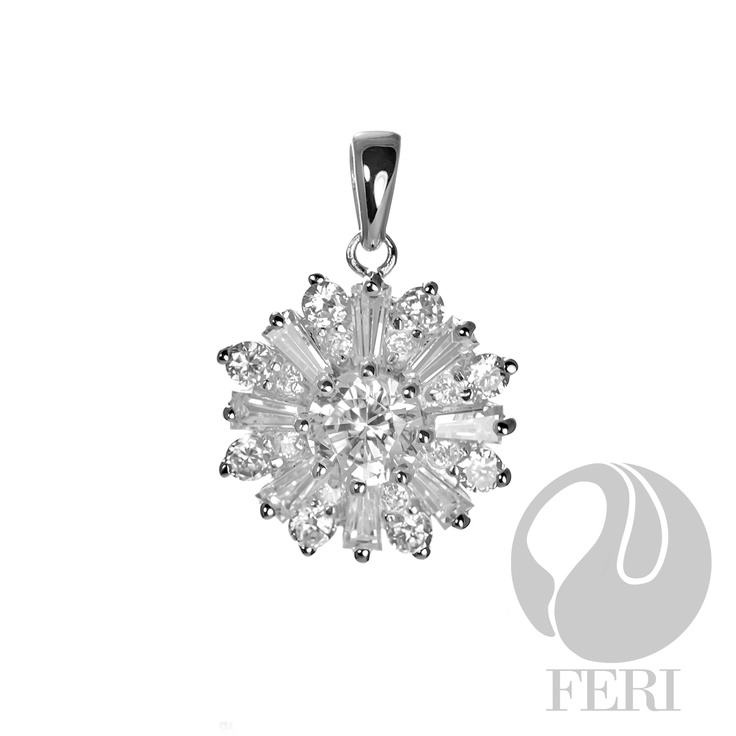 AAA White Cubic Zirconia .925 sterling silver pendant from GWT Galleries, FERI Designer Lines, Click for more info: http://www.globalwealthtrade.com/galleries/display_item.php?referral=jovialdesigns=12=3474=eng_can#
