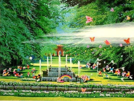 Hiro Yamagata - rainbow & butterflies garden