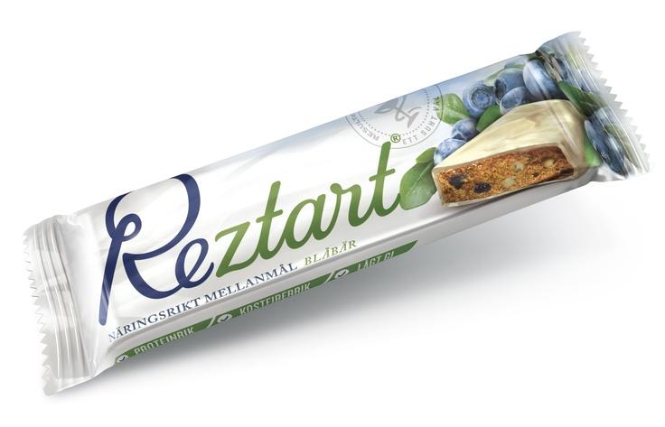 Reztart Blåbär är ett näringsrikt mellanmål med lågt GI.  Produkterna är ett resultat av 10 års svensk forskning, och är baserad på ett svenskt patent.  Reztart är baserade på naturliga råvaror och innehåller en unik sammansättning av tre proteinkällor, nyttiga fibrer, långsamma kolhydrater & essentiella fettsyror.