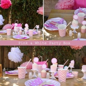 Pink & White Party Box