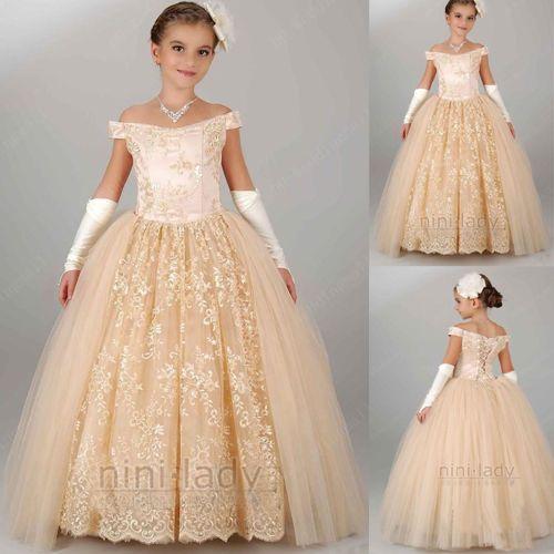 Robe princesse mariage pour petite fille