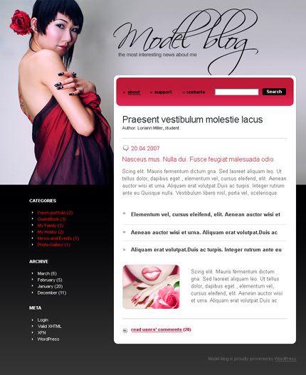 Model Blog WordPress Themes by Di