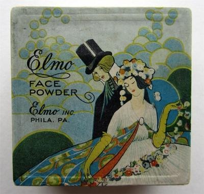 Vtg Art Nouveau Deco Elmo Face Powder Box Makeup Ladies Vanity Philadelphia 20s | eBay