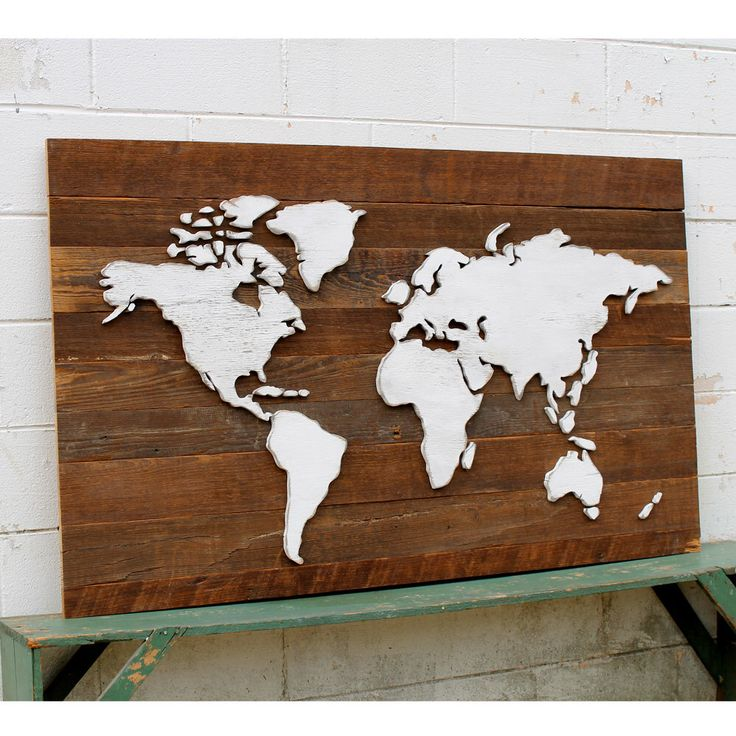 Rustic World Map Wooden Reclaimed Wood Large International Map by SlippinSouthern on Etsy https://www.etsy.com/listing/201169274/rustic-world-map-wooden-reclaimed-wood