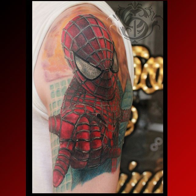 #caromontoyatattoo #tattoo #colortattoo #color #tatuaje #spiderman #spidermantattoo #colombiatattoo #