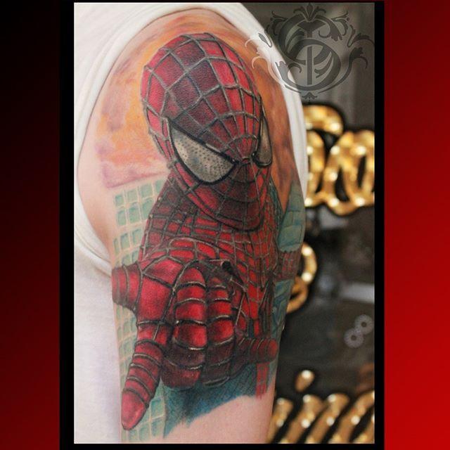 #caromontoyatattoo #tattoo #colortattoo #color #tatuaje #spiderman #spidermantattoo #colombiatattoo #