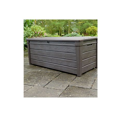 Brightwood Wood Effect Plastic Garden Storage Box | Departments | DIY at B&Q