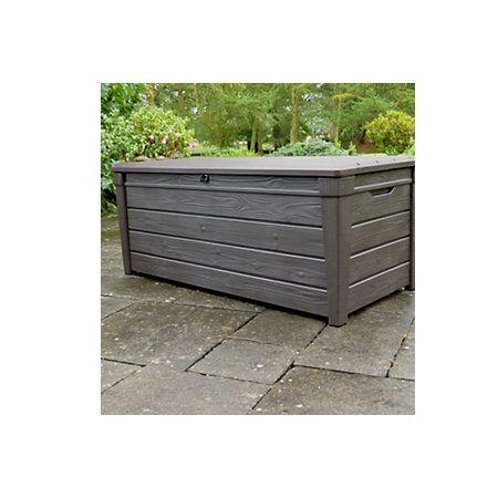 View Brightwood Wood Effect Plastic Garden Storage Box B&Q - £87