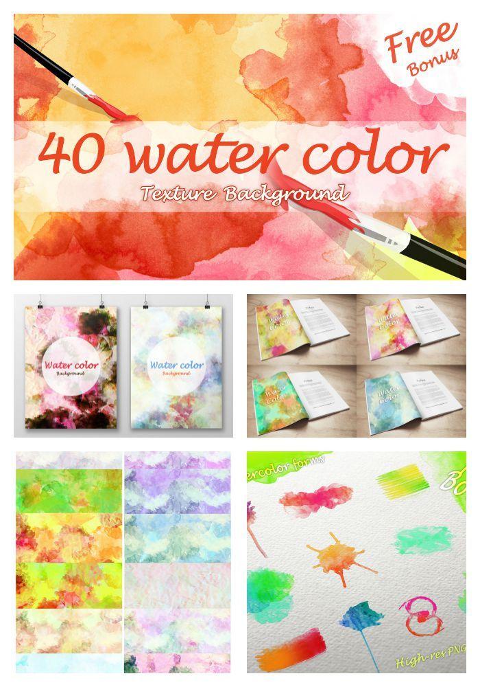 I love using these watercolors in my Bible journaling:   40 Watercolor Textures + Free bonus for $9--very good deal. #biblejournalingdigitally # Biblejournaling #digital #scrapbooking #watercolors