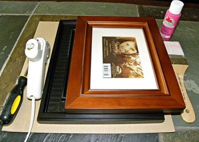 How to make a Shadowbox from recycled/dollar store frames