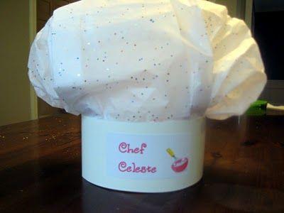 DIY Tissue Paper Chef Hat