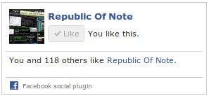 Perubahan Tampilan Like Box Facebook! | Republic Of Note