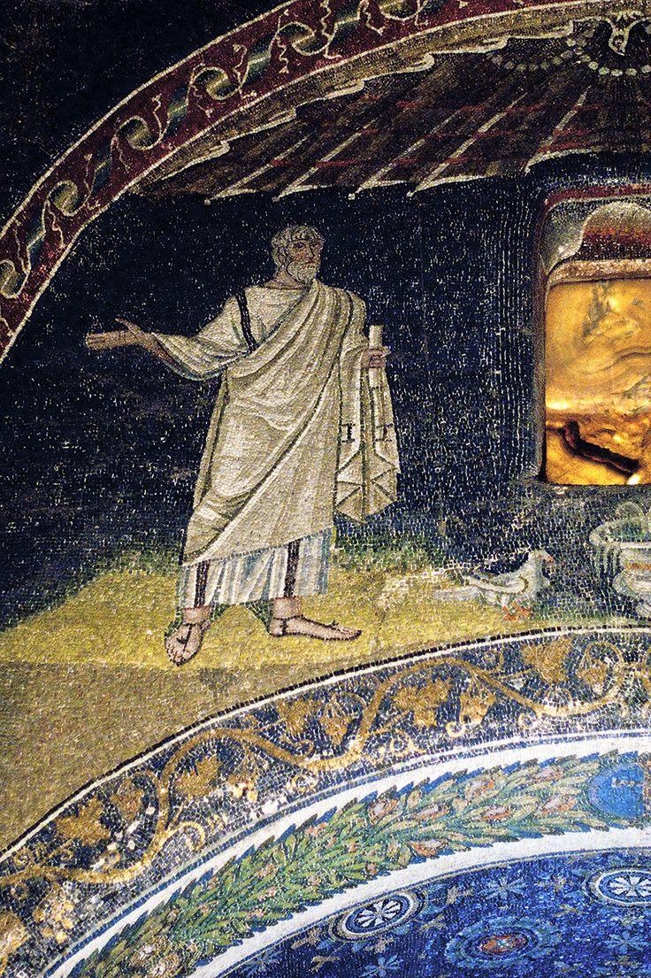 Mausoleo di Galla Placidia, Ravenna, i mosaici, intorno a metà del V secolo. Apostolo