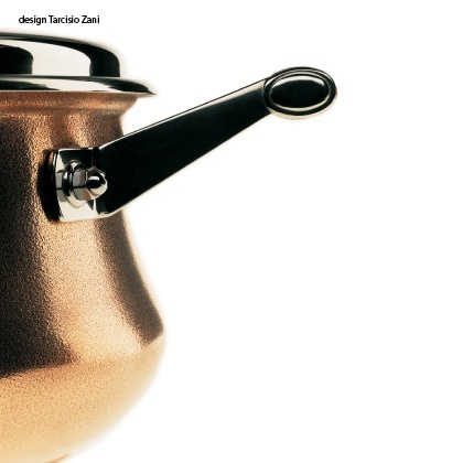 Genesis, design Tarcisio Zani. Stainless Steel and copper