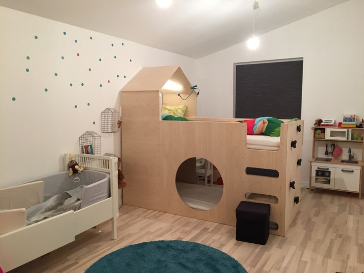 IKEA hack - bed from IKEA (Kura). I'm glad to see the final result of my hard work on the children bed. And they love it ;)