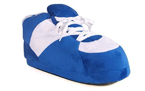 Happy Feet - Blue and White - Slippers - XL >>> See this great product.