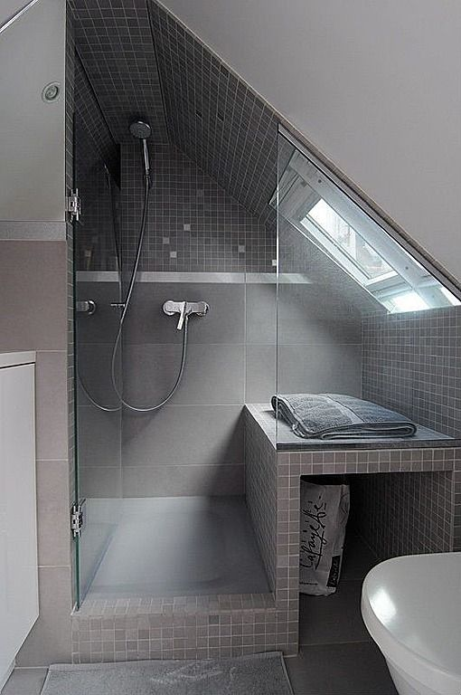 Bathroom tucked into upstairs