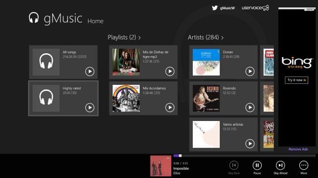 Tres reproductores de música para Windows 8  http://www.genbeta.com/p/73984
