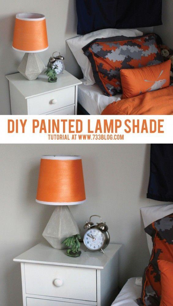 Painted Lamp Shades: DIY Painted Lamp Shade,Lighting