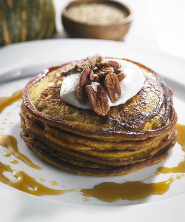 Yum, these pancakes look delicious! The ingredients will surprise you and be a delight to digest.   Thank-you amazing Dr Libby Weaver- you are a health and wellness angel!  http://www.drlibby.com/recipe/pumpkin-pancakes-with-maple-pecans-and-coconut-yoghurt/