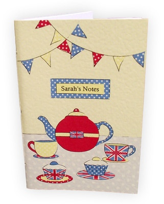 Afternoon Tea notebook handmade by @suzyleafpress #diamondjubilee