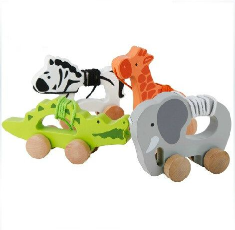 Animaux en bois tracteur voiture crocodile girafe zèbre éléphant jouets à tirer trotteur dans Kits de construction de maquettes de Jouets & loisirs sur AliExpress.com | Alibaba Group