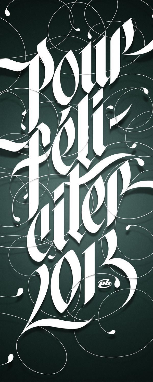 Pour Féliciter 2013 by Peter Bielous, via Behance