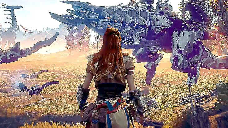 HORIZON ZERO DAWN - 50 Minutes of AWESOME Gameplay (PS4/PS4 PRO) 2017