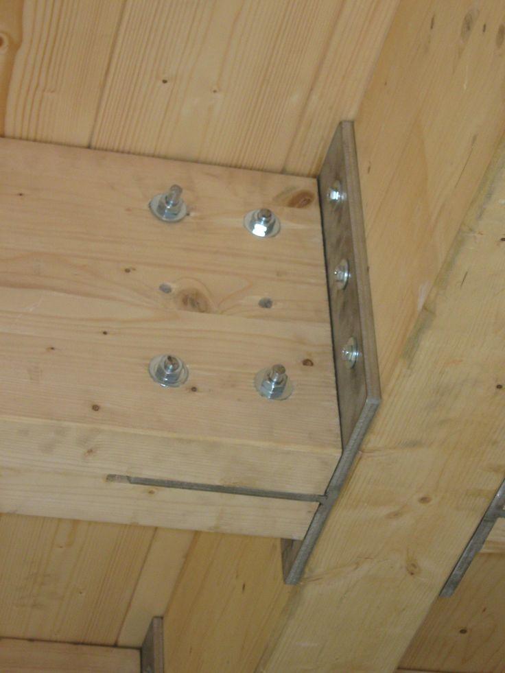 15. Dettaglio – Nodo di collegamento tra travi in legno lamellare