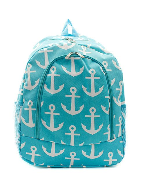 Anchor Backpack with FREE Monogram by MonogramsbyMarilyn on Etsy