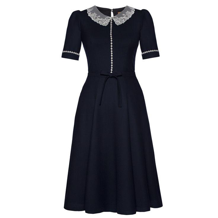 Miss Marple Dress midnight - Autumn Winter 2016/2017 - Online Shop - Lena Hoschek Online Shop