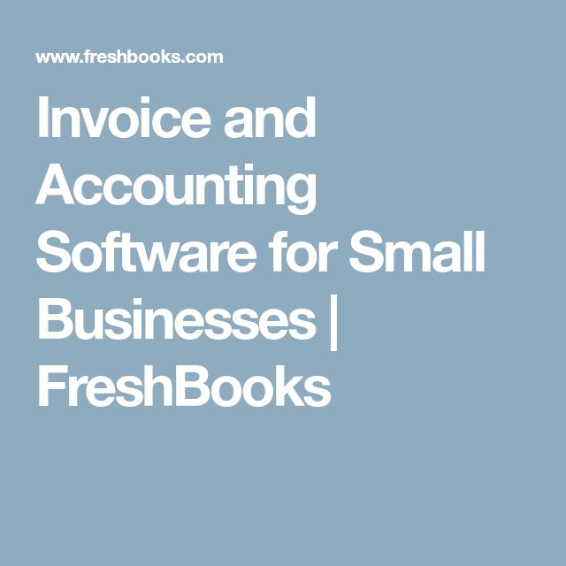 Invoice and Accounting Software for Small Businesses  | FreshBooks