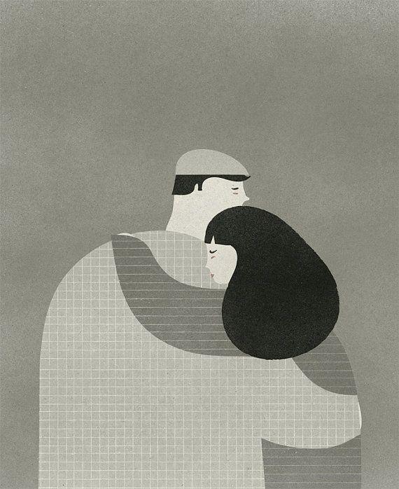El abrazo print por blancucha en Etsy