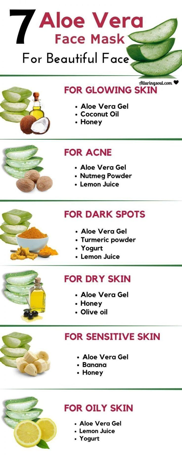 7 Aloe Vera Gesichtsmaske für strahlende und schöne Haut